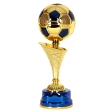 Кубок «Футбол» c чашей - мячом / Золото-Синий