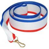 Лента для медали / Белый-Красный-Синий