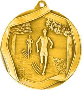 Медаль Бег / Металл / Золото 02-0223-1