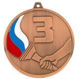 Медаль Места - Факел - Триколор / Металл / Бронза