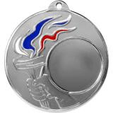 Медаль Универсальная - Факел - Триколор / Металл / Серебро