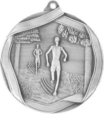 Медаль Бег / Металл / Серебро 02-0223-5