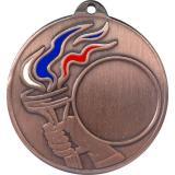 Медаль Универсальная - Факел - Триколор / Металл / Бронза