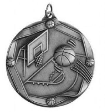 Медаль Баскетбол / Металл / Серебро 02-0217-4