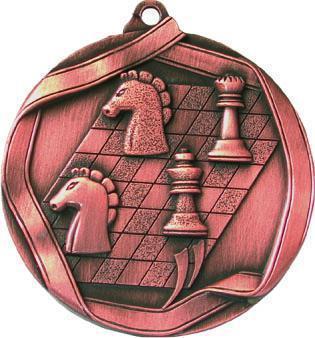 Медаль Шахматы / Металл / Бронза 02-0173-3