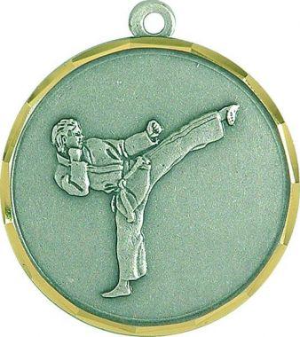 Медаль Каратэ / Металл / Серебро 02-0232-2