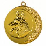 Медаль Собаководство / Металл / Золото