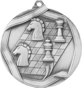 Медаль Шахматы / Металл / Серебро 02-0173-2