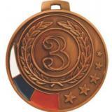 Медаль Места - Звезда - Триколор / Металл / Бронза