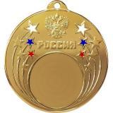 Медаль Универсальная - Звезда - Триколор / Металл / Золото