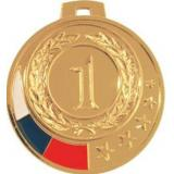 Медаль Места - Звезда - Триколор / Металл / Золото