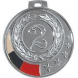 Медаль Места - Звезда - Триколор / Металл / Серебро